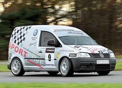 Caddy также участвует в гоночной серии VW Racing Cup. На его счету уже несколько подиумов.