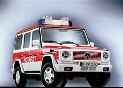 До сих пор «Гелендвагены» используются в полиции и в качестве мобильных машин «скорой помощи».