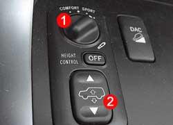 Конек Prado – возможность регулировать жесткость (1) подвески и величину дорожного