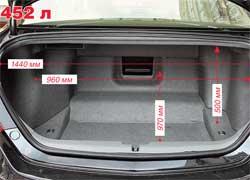 Багажник открывается обычным способом, а не электроприводом. Причем, закрывая его, приходится сильно хлопать крышкой. Где же доводчик? Сложная конфигурация отсека – плата за размещенный под ним активный дифференциал.