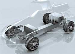 Подразделение Daimler AMG совместно с компанией Evonik – они создают для модели SLS полноприводную трансмиссию с электроприводом.