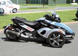 Систему безопасности VSS для трицикла Can-Am Spyder недавно презентовала компания Bosch.