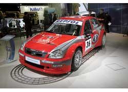 Гоночная версия Lada Priora WTCC с выставки отправилась на очередной этап кольцевых гонок в немецком городе Оршеслебене.