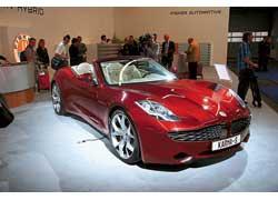 Калифорнийские компании Fisker и Tesla идут рука об руку, предлагая как уже серийные, так и перспективные модели – купе-кабриолет с жесткой складной крышей Fisker Karma Sunset и и семиместный спортседан Tesla Model S.