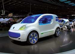 Renault Kangoo Z.E. – прообраз легкого коммерческого электромобиля.
