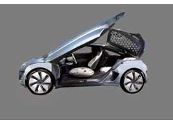 На крыше Renault ZOE Z.E. установлены фотоэлементы, преобразующие свет вэлектроэнергию для питания климатической системы.