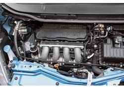 Мотор Jazz оснащен системой изменения фаз газораспределения и начинает тянуть с 3500 оборотов в мин. До этой отметки он экономит топливо.