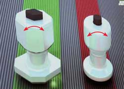 Более широкая площадь опоры шестигранного шипа обеспечивает лучшую стойкость при боковых нагрузках.