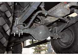 Зависимая рессорная подвеска обоих мостов выбрана как самая неприхотливая и ремонтопригодная.