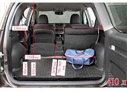 Багажник объемом в 410 литров – один из самых скромных в классе. Заднюю полку покупатель может заказать в качестве опции.