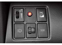 В Toyota RAV4 в версии с вариатором CVT на торпедо появилась кнопка Sport, отвечающая за «характер» авто. При ее нажатии на приборной панели загорается соответствующая надпись, а сам автомобиль становится немного резвее.