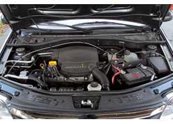 У Logan 8-клапанный мотор. Это тот же двигатель, который был установлен и на Dacia.