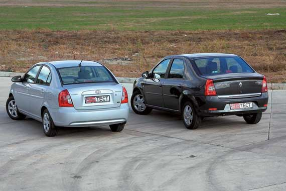 Hyundai Accent, Renault Logan