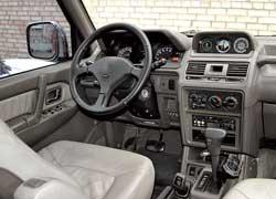 Многие Pajero, эксплуатируемые в Украине, оснащены постоянным полным приводом Super Select 4WD – на рычаге «раздатки», как иу Cherokee, нанесены 5 различных режимов работы трансмиссии.