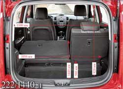 Багажник Kia Soul маленький и неудобный. Со сложенными задними сиденьями его объем возрастает до 1140 л, но у ближайших конкурентов отсек больше.