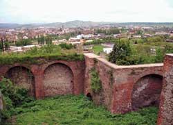 Фрагмент оборонительной стены замка «Паланок».