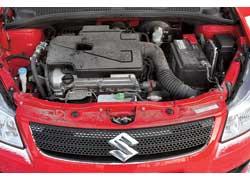 Мотор объемом 1,6 л (107 л. с.) – единственный из предлагаемых дляSX4 в Украине. Причем как на 5-дверный хэтчбек, так и на седан.