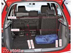 Загружать багажник правильной формы с ровным полом (присложенных сиденьях второго ряда) было бы еще легче, если бы не высокий бортик.