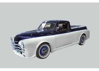 Оригинальный хот-род с кузовом пикап выполнен помотивам советской «Победы» наузлах и агрегатах различных моделей Mercedes-Benz.