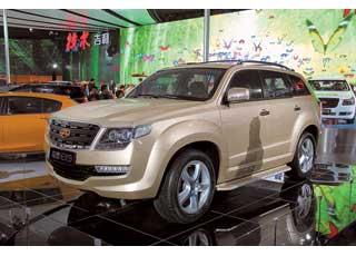 Большой (4,8 м) 7-местный SUV Emgrand EX9 будет оснащаться бензиновым 163-сильным мотором или 148-сильным турбодизелем.