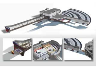 Поворотный тоннель краш-лаборатории позволяет сталкивать автомобили подразными углами, направлять машину в скалу, кювет,лесопосадку.