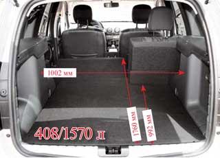 Когда под полом багажника полноценная запаска, то пол при сложенных спинках второго ряда ровный. Но отсек в версии 4х4 в этом случае теряет 35литров. Шторка не сматывается, однако из нее можно сделать «гамак» для вещей.