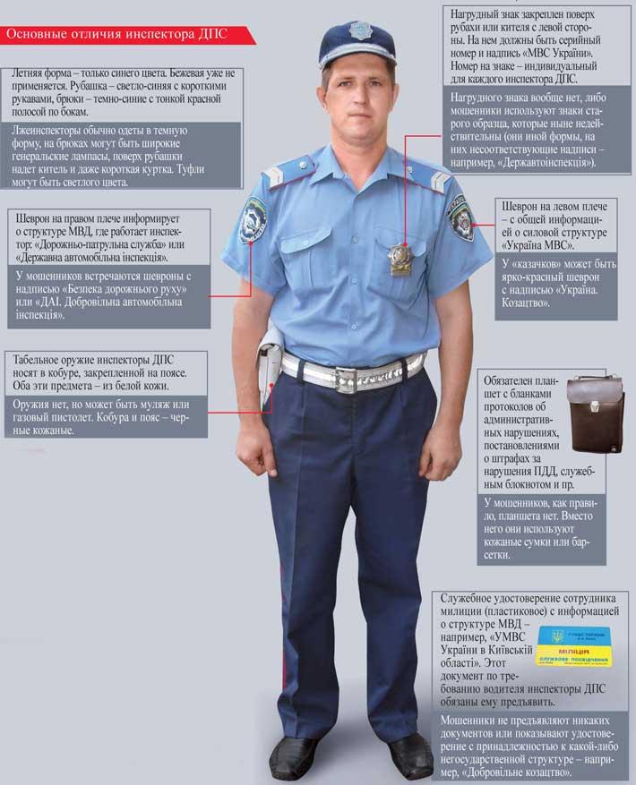 Основные отличия инспектора ДПС