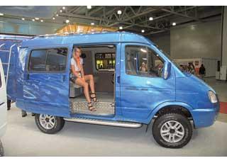 «Молодежный» построен на базе полноприводного «Соболя». Специальный грузовой отсек позволяет надежно закрепить любое оборудование, необходимое для путешествия и отдыха.