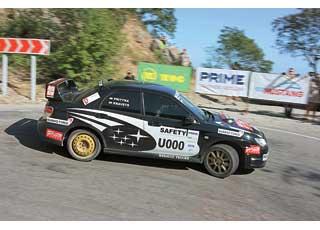 Экипаж «Автоцентра» Ирина Кравец/Артем Притыка открывали «канал» украинскому зачету Prime Yalta Rally 2010.