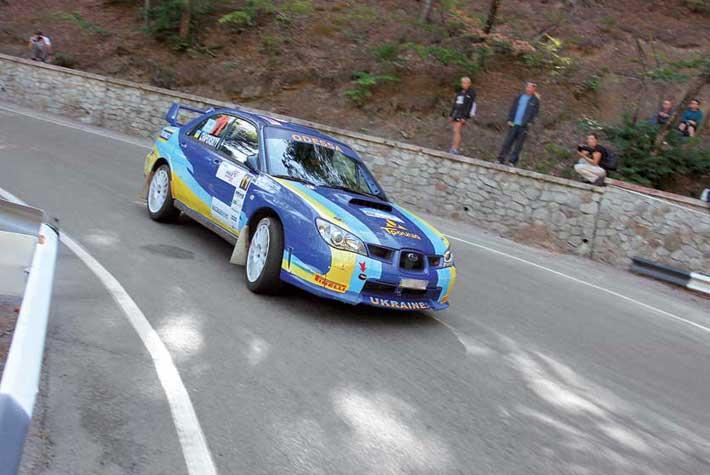 VI Prime Yalta Rally 2010. Subaru Impreza WRX STi