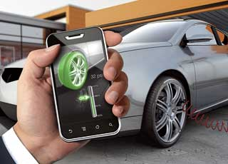 Компания Continental разработала систему контроля над давлением в шинах автомобиля, которая будет передавать информацию непосредственно на телефон автовладельца.