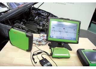 Одна из множества новинок Robert Bosch Gmbh– мобильный мотор-тестер, работающий по беспроводной технологии Bluetooth. Онизбавляет от путающихся кабелей и позволяет работать cCAN-шиной.