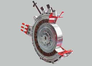 Силовой агрегат для параллельного привода Р2 от Robert Bosch Gmbh позволяет «гибридизировать» уже существующие модели (например, не самые «зеленые» Porsche Cayenne и VW Touareg).