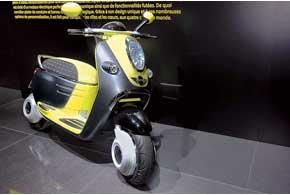 А в Mini Scooter E Concept на электротяге смартфон может выполнять функцию ключа зажигания, дисплея и элемента центральной консоли. Кстати, скутер получился столь же стильным и молодежным, как и автомобили этой марки.