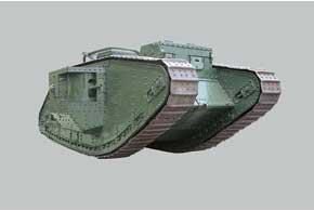 На площади Конституции стоит памятник времен Гражданской войны 1918–1922гг.– английский танк Mark V.