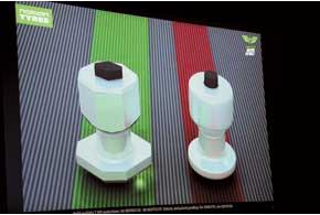 Более широкая площадь опоры шестигранного шипа улучшает стойкость при боковых нагрузках.