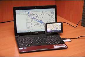 Проложенный на компьютере маршрут в программе MapSource записывается сразу вкарту «НавЛюкс» навигатора Garmin.