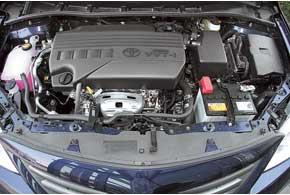 Двигатель Toyota 1,33 л прогнозируемо самый спокойный, но и экономичный.