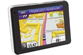 Нанекоторых сложных развязках навигатор Garmin с картой «Навлюкс» показывает водителю, по какой полосе ехать, чтобы правильно выполнить маневр.