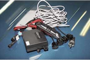 Комплекты парктроников обычно содержат не только инструкцию по установке устройства, ноифрезу для вырезания отверстий под датчики в пластиковых бамперах.
