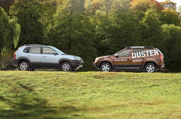 Hyundai Tucson, Renault Duster