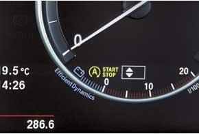 Впервые в BMW АКП используется сфункцией автоматической остановки и запуска мотора.