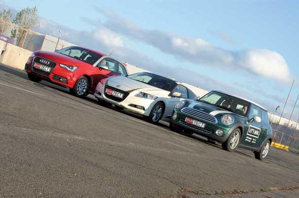 Audi А1,  Honda CR-Z, Mini Cooper