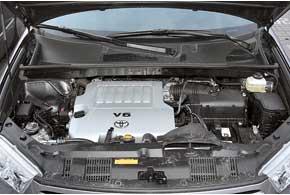 Двигатель 2GR-FE знаком по топ-версии Camry, однако вHighlander он перенастроен (смещены пики мощности и момента).