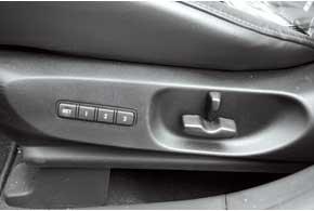 Начиная с версии Lux, устанавливается электропривод регулировок передних сидений и память настроек на три ячейки.