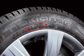 Во время установки шины на инфоучастке можно делать краской отметки орекомендуемом давлении.