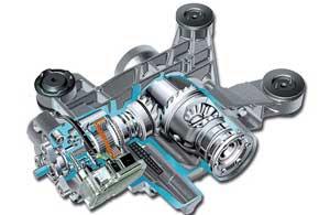 В основе конструкции трансмиссии Haldex – многодисковое сцепление, находящееся в масляной ванне, которое блокируется при появлении разницы в скорости вращения передних и задних колес.
