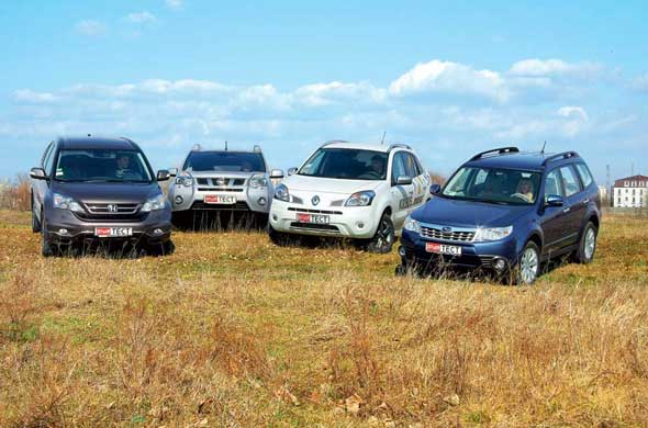 Honda CR-V, Nissan X-Trail, Renault Koleos, Subaru Forester