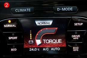 Стоит нажать кнопку D-Mode, и меняется не только цвет монитора, на который начинает поступать иная информация, но и назначение кнопок (!) становится другим (2).