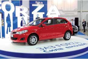 Пятидверный хэтчбек ЗАЗ Forza, на котором установлены 1,6-литровый двигатель (109л.с.) и5-ступенчатая механическая КП, будет стоить порядка 86 тыс. грн.